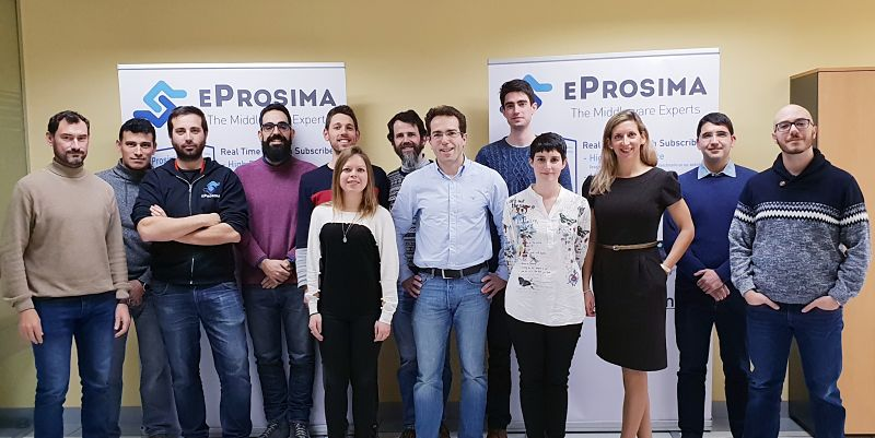eProsima team at the office